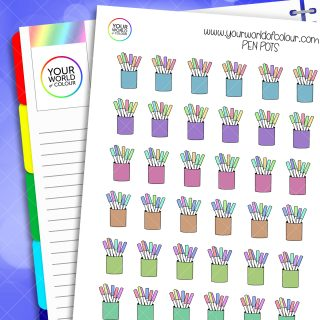 Pen Pots Planner Stickers