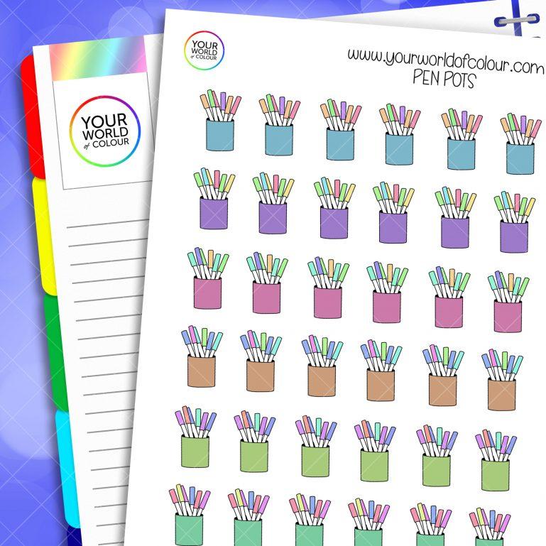 Pen Pots Planner Stickers