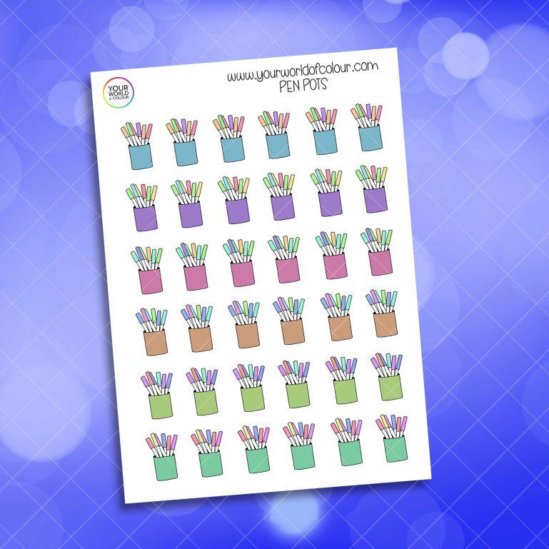 Pen Pots Stickers