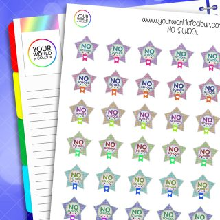 No School Planner Stickers