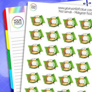 Nasi Lemak Malaysian Food Planner Stickers