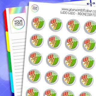Gado Gado Indonesian Food Planner Stickers