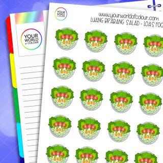 Luang Brabang Salad Planner Stickers
