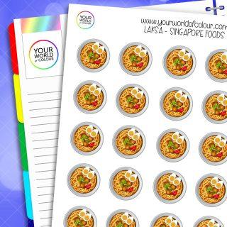 Laksa Singapore Food Planner Stickers