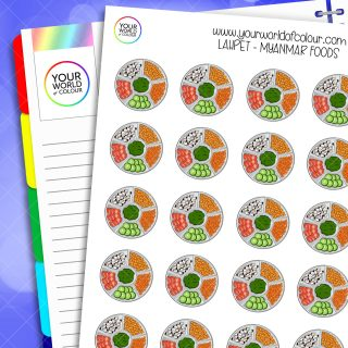 Lahpet Planner Stickers