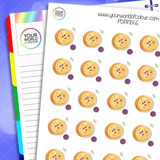 Porridge Planner Stickers