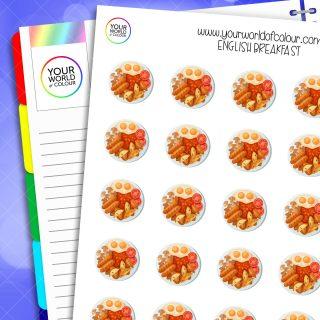 English Breakfast Planner Stickers