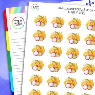 Fruit Plate Planner Stickers