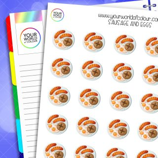 Sausage and Eggs Planner Stickers