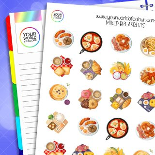 Mixed Breakfasts Planner Stickers