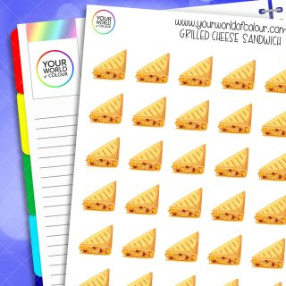 Grilled Cheese Sandwich Planner Stickers
