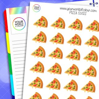Pizza Slices Planner Stickers