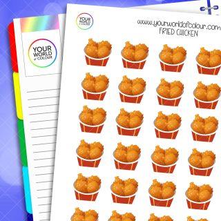Fried Chicken Planner Stickers