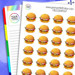 Cheeseburger Planner Stickers