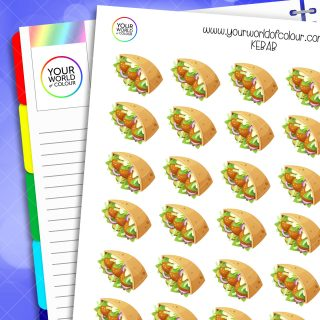 Kebab Planner Stickers
