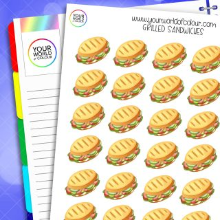 Grilled Sandwiches Planner Stickers