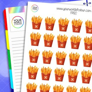 Fries Planner Stickers