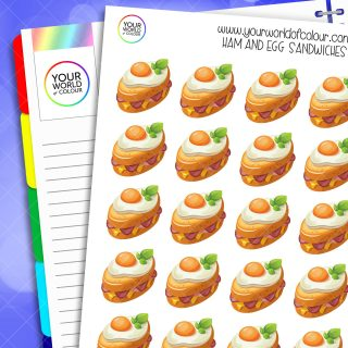 Ham and Egg Sandwiches Planner Stickers