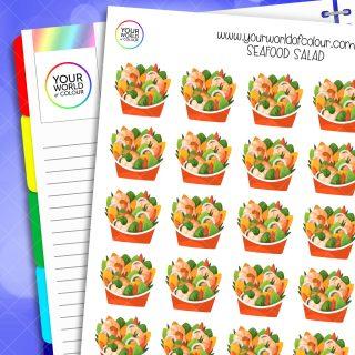 Seafood Salad Planner Stickers
