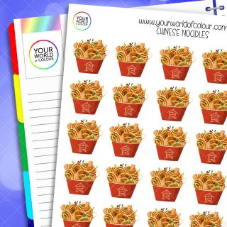 Chinese Noodles Planner Stickers