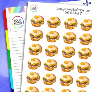 Egg Burgers Planner Stickers