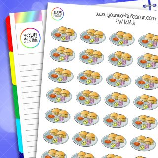 Pav Bhaji Planner Stickers
