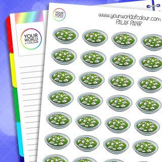 Palak Panir Planner Stickers