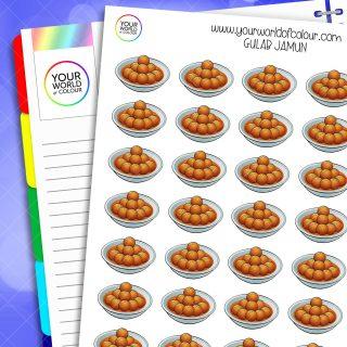 Gulab Jamun Planner Stickers