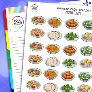 Indian Cuisine Planner Stickers