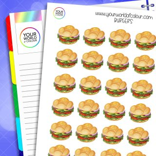 Burger Planner Stickers
