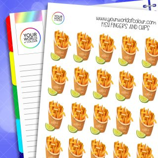Fish Fingers and Chips Planner Stickers
