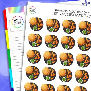 Pork Baps, Carrots and Peas Planner Stickers