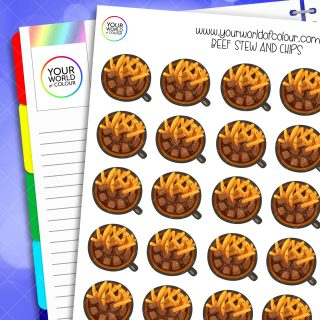 Beef Stew and Chips Planner Stickers