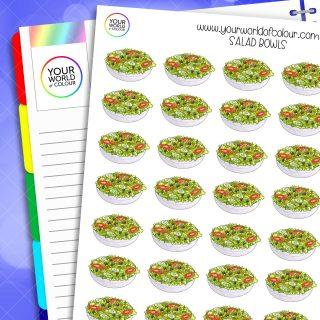 Salad Bowls Planner Stickers