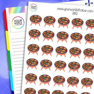 BBQ Planner Stickers