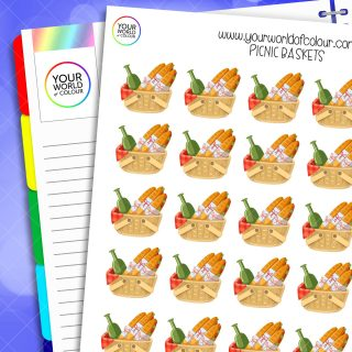 Picnic Basket Planner Stickers
