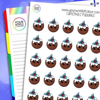 Christmas Pudding Planner Stickers