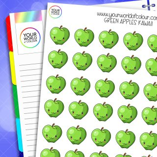Green Apple Planner Stickers