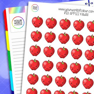 Red Apple Planner Stickers