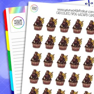 Chocolate Frog Wizard Cake Planner Stickers