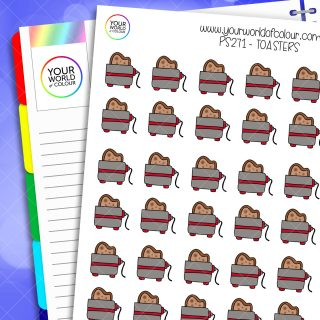 Toaster Planner Stickers