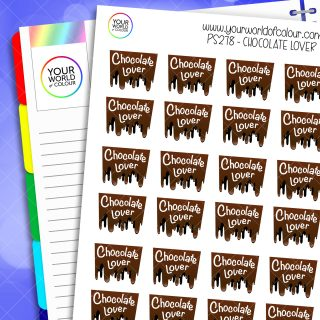 Chocolate Lover Planner Stickers