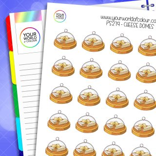 Cheese Dome Planner Stickers