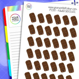 Chocolate Kawaii Planner Stickers