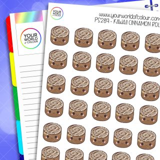 Cinnamon Roll Planner Stickers