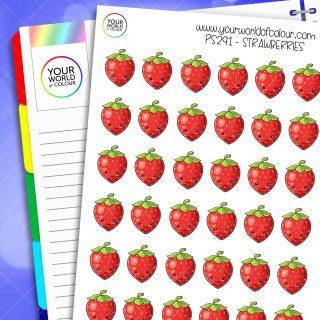Strawberry Planner Stickers