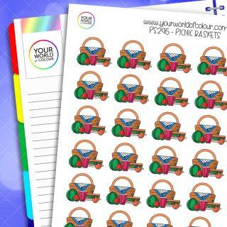 Picnic Basket Stickers