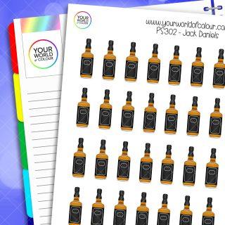 Jack Daniels Planner Stickers