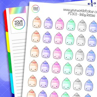Baby Bottle Planner Stickers