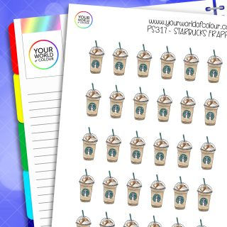 Starbucks Frappes Planner Stickers